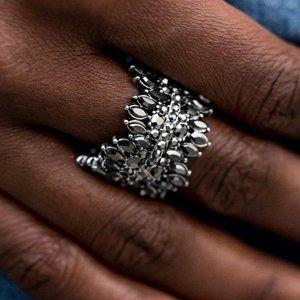 Cosmic Confetti Silver Ring